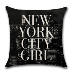 Polštář NEW YORK CITY GIRL / Holka z New Yorku - 45 x 45 cm