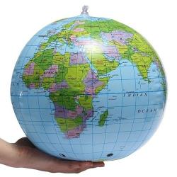 Nafukovací míč - zeměkoule - globus