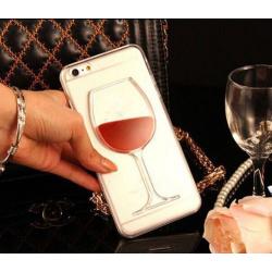 Kryt pro Apple iPhone X - sklenička vína s tekutinou