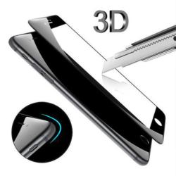 Tvrzené zahnuté 5D sklo pro iPhone 7 8 -  černé