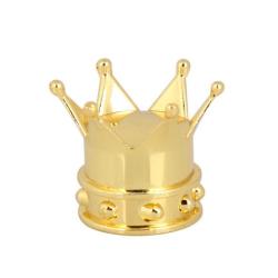 4x čepička zlatá Koruna Král / hlavička ventilku nejen pro auto