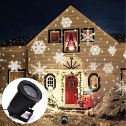 LED projektor 4W na dům - sněhové vločky
