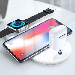 Luxusní podložka RAXFLY pro bezdrátové QI nabíjení Apple iPhone Watch AirPods