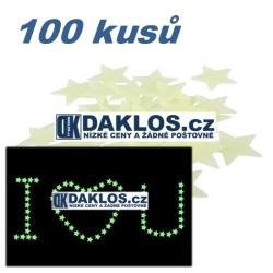 Svíticí hvězdičky - samolepky - 100 kusů