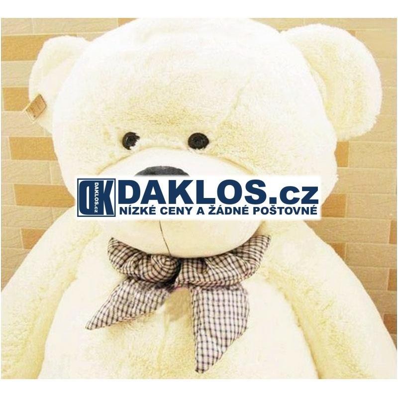 Gigantický - 70 cm - velký plyšový medvěd - 100% bavlna - bílý