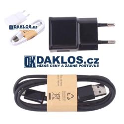 Sada USB nabíječky a datového a nabíjecího kabelu - bílá a černá