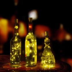 2m LED řetěz se špuntem nejen do lahve - dekorace teplá bílá