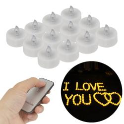 12x LED elektronická svíčka + dálkové ovládání