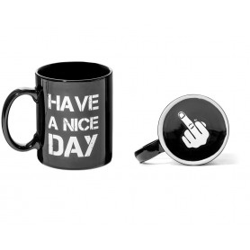 Hrneček Have a Nice Day   Hrnek Herký den - černý