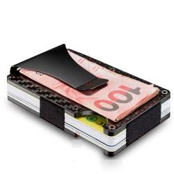 Karbonová mini peněženka CARBET s klipem