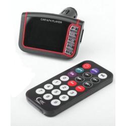 FM MP4 MP3 transmitter s 1,8'' LCD displejem, ovladačem a se vstupem pro flashku a paměťovou kartu SD