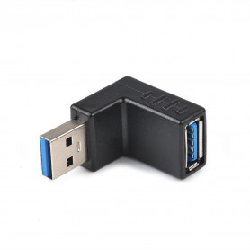 Rohový NAHORU USB 3.0 adaptér / Roh / 90° / MALE - FEMALE