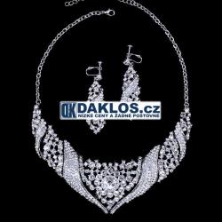 Set náhrdelníku a náušnic s křišťálovými diamanty
