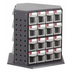 Otočný kovový dílenský organizér s 48 zásuvkami   Shuter