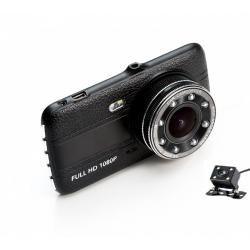 Dvojitá HD kamera do auta výkonným LED osvětlením - DC02