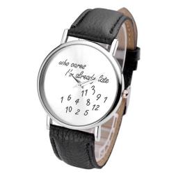 Stylové hodinky - Koho to zajímá? Stejně už jdu pozdě.