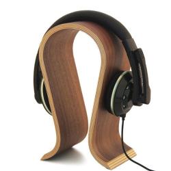 Exkluzivní stolní dřevěný držák / stojánek na sluchátka