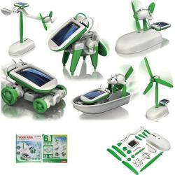 Solární stavebnice 6 v 1 - interaktivní hračka na solární pohon, roboti