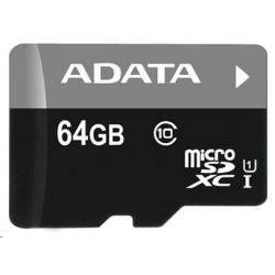 Micro SDXC karta ADATA Premier 64GB UHS-I Class 10 + SD adaptér