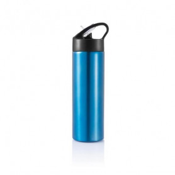 Sportovní láhev s brčkem Sport, 500 ml, XD Design, modrá/černá