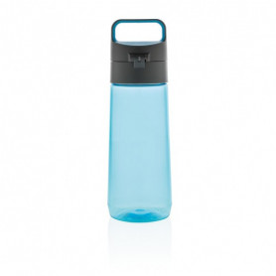 Láhev na vodu s uzamykatelným víčkem, 600 ml, XD Design, modrá