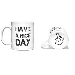 Hrneček Have a Nice Day Hrnek Hezký den - bílý
