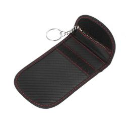 Pouzdro CARBON blokující signál na klíče od auta, telefon a karty