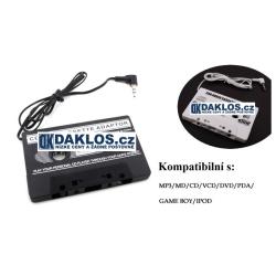 Kazetový adaptér / kazeta do rádia nejen do auta s 3,5 mm Jackem - Bílá a černá