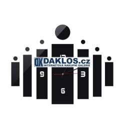 Nalepovací 3D nástěnné analogové hodiny - černé