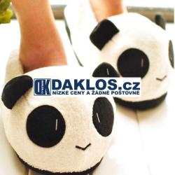 Zvířátkové pantofle / boty / papuče - Panda / ve tvaru pandy / protiskluzové / zábavné / Plyš