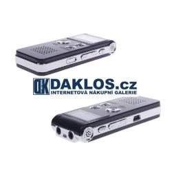 Profesionální diktafon (hlasový záznamník) 8 GB / nahrávání hlasu / zvuku a telefonních hovorů