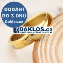 Prsten známý z filmu Pán Prstenů a Hobit - zlatý - 4 mm