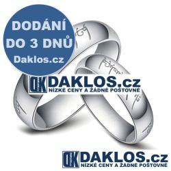 Prsten známý z filmu Pán Prstenů a Hobit - stříbrný - 4 mm