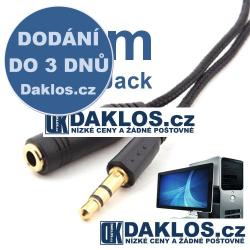 Prodlužovací audio kabel 1,5 m pro 3,5 mm Jack s pozlacenými konektory