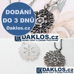 Řetízek / náhrdelník s přívěskem ve tvaru sněhové vločky