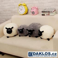Plyšová ovečka / ovce - bílá / šedá