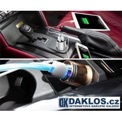 Duální bezpečnostní USB auto nabíječka do zapalovače / bezpečnostní rozbití okna
