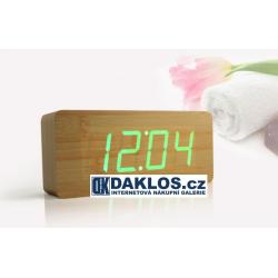 Dřevěný digitální budík / hodiny / teploměr