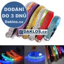 Svítící LED obojek pro mazlíčky S-XL