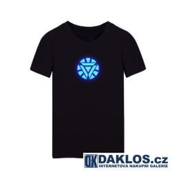 LED tričko / triko The Avengers / Tony Stark / Iron Man se svíticím obrázkem / logem XS S M L XL XXL