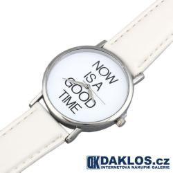 Stylové motivační hodinky - Teď je ten správný čas!