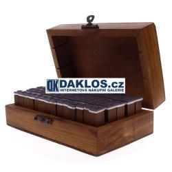 Dřevěná vintage razítka - 70 kusů - Abeceda / Číslice
