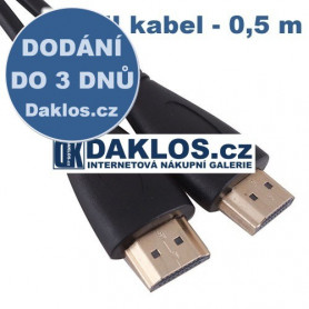 HDMI datový kabel s pozlacenými konektory  1m - High Speed 3D Full HD 1080P