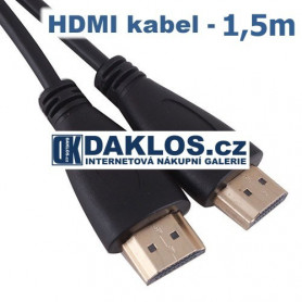 HDMI kabel s pozlacenými konektory  1,5m - High Speed 3D HDTV