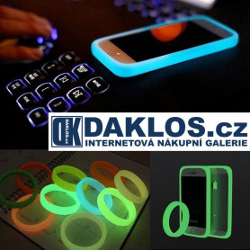 Universální svíticí ochranný kryt / obal na telefony / náramek - luminiscenční