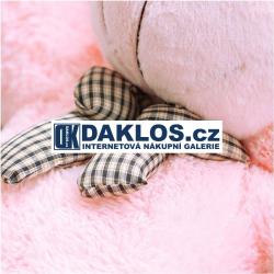 Gigantický - 90 cm - plyšový růžový medvěd - 100% bavlna