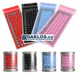 Bezdrátová Bluetooth silikonová a flexibilní USB klávesnice