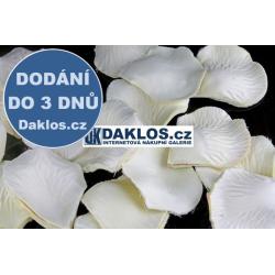 Okvětní lístky růže - 100 kusů - Bílá