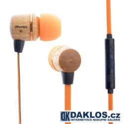 Exkluzivní dřevěná špuntová sluchátka AWEI ES-Q5