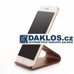 Exkluzivní stolní dřevěný držák / stojánek na telefon / smartphone